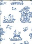 Celia Birtwell Classics Beasties Delft CBW171 Wallpaper By Blendworth